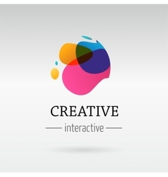 trendy abstract vibrant and colorful icon vector image vector image