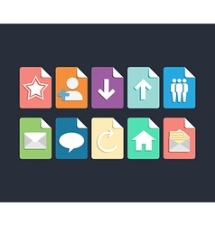 Website and app design flat icons set vector image vector image