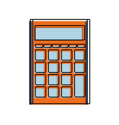 Color finance calculator to business economy data vector