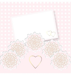 Delicate invitation card vector image