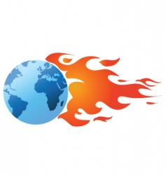 flaming world vector image vector image