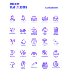 flat line gradient icons design-healthcare and vector image