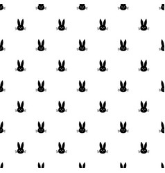 pattern with rabbit heads vector image vector image