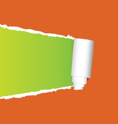 tearing paper on orange vector image