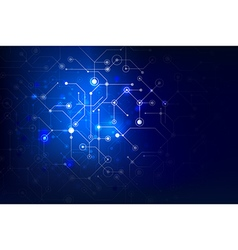 Abstract background connection internet social dot vector image