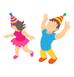 birthday party icon isometric 3d style vector image
