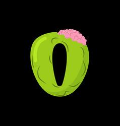 letter o zombie font monster alphabet bones and vector image