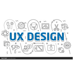 lines template ux design vector image