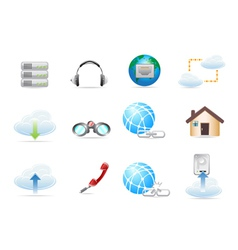 Network Icon sets vector image vector image
