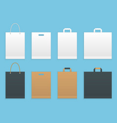 set of six paper shopping or vector image vector image