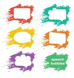 Speech bubbles colorful collection set vector image