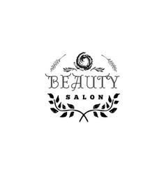 badge for small businesses - beauty salon sticker vector image vector image