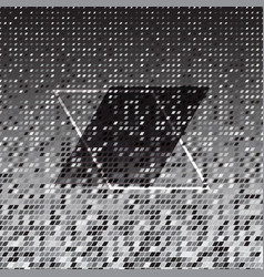 parallelogram silver halftone abstract background vector image vector image