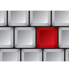 Part of computer keyboard without symbols vector image