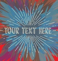 sunrays greetings theme art vector image vector image