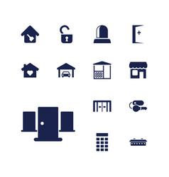 13 door icons vector