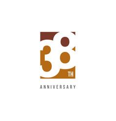 38 th anniversary celebration logo template design vector