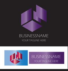 abstract box finance logo vector image