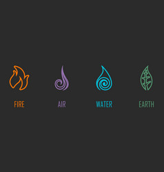 Abstract four elements line symbols vector