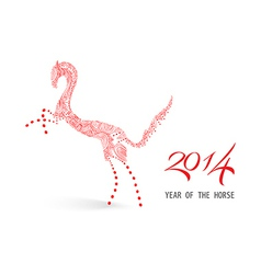 Abstract sketch chinese new year of the horse vector