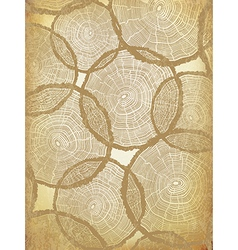 Aged Background with Tree Rings Pattern vector