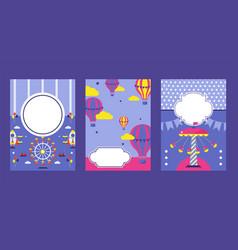 Amusement park invitation banner vector