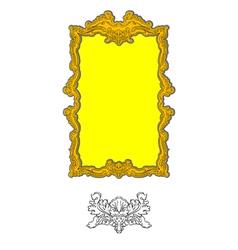 authentic rococo ornament vector image