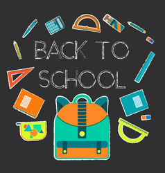 back to school background with study equipment vector image