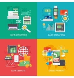Bank equipment and payment concepts vector image