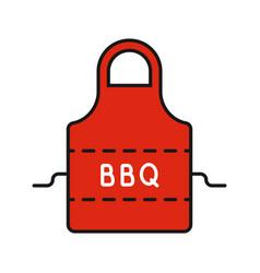 Barbecue apron color icon vector