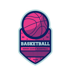 Basketball minor league vintage isolated label vector