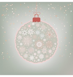Beautiful Christmas ball card EPS 8 vector