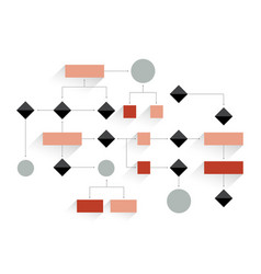 Big flowchart geometric scheme presentation vector