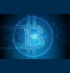 bitcoin business abstract blue background vector image