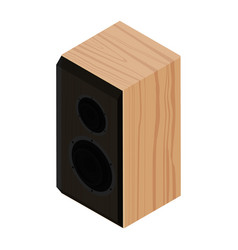 black acoustic speaker loudspeaker isolated on vector image