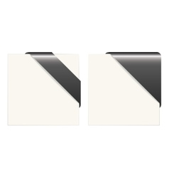 Black and white paper corners vector