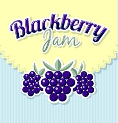 Blackberry jam label vector