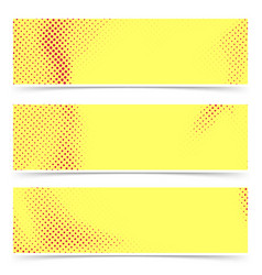 bright red yellow old style pop art banners vector image