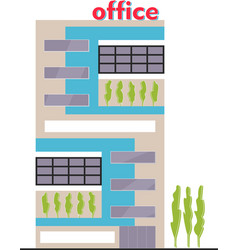 business building facade office building exterior vector image