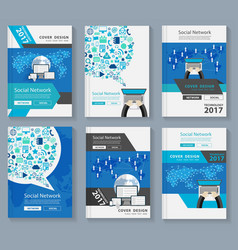 Business magazine cover layout design with vector