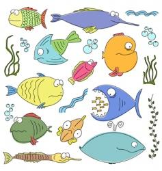 cartoon comic fish vector image