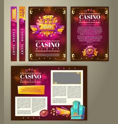 Casino flyer banner vector