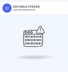 Coding icon filled flat sign solid vector