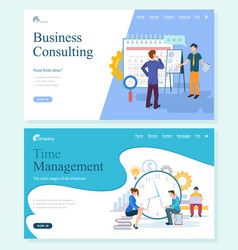 company strategy consulting and management vector image