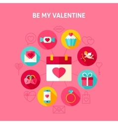 Concept Be My Valentine vector image