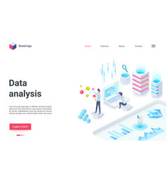 Data analysis business investment isometric vector