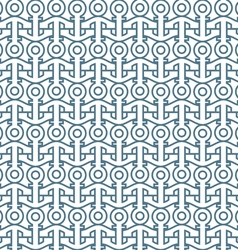 Delicate seamless pattern with anchors vector image