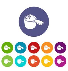 Detergent dose icons set color vector