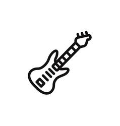 electric guitar icon vector image