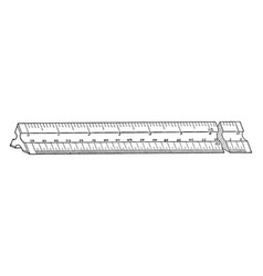engineers scale ruler fixed ratio of length vector image